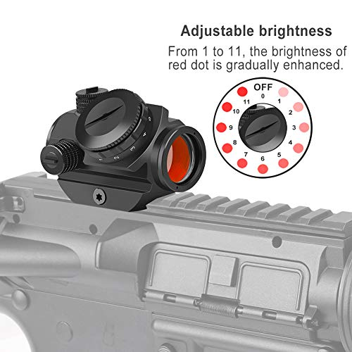 Feyachi RDS-22 Micro Red Dot Sight - 2 MOA Compact Red Dot Scope 1 x 22mm