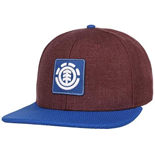 Element Gorra Snapback United B de Beisbol Baseball (Talla única - Burdeos)