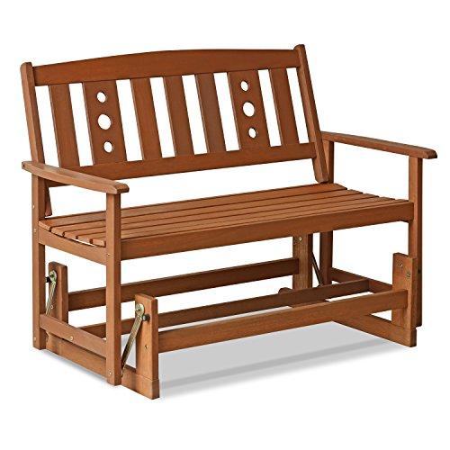 Furinno Tioman Outdoor Sitzbank, Holz, natur, 70 x 111.76 x 91.49 cm
