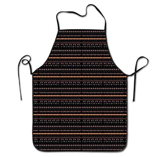 hodmadod Aprons Halloween Borders Clip Art Apron for Kitchen BBQ Barbecue Cooking Gardening Waterproof Durable and Great Gift Suit for Men Women Creative Design Bib