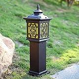 Jue Europäische IP54 wasserdichte Aluminium-Metall-Spalte Licht Glashof Tor Lampe Außenwasserdichte