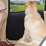 DOGLEMI ペット用ドライブシート、サイドドア保護カバー 2枚セット、ドアプロテクター、車内ドアを爪傷 擦り傷 汚れから強力に防ぐ 洗濯簡単 カー用品 左右セット 犬用 猫用(ブラック)