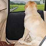 Doglemi Car Door Protector Edge Guards Dog Seat Cover Waterproof Protectors for Car Travel with Dogs Black