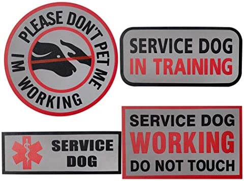 Service Dog Patches Don t PET ME I m Working Working Do Not Touch Service Dog in Training Reflective product image