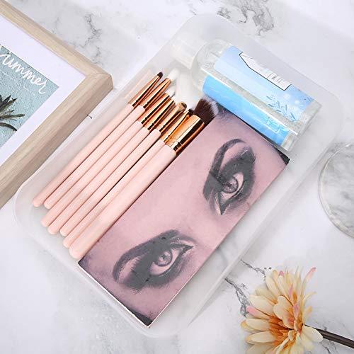 Support d'organisateur de maquillage Boîte de rangement pratique pour Nail Art Pratique pour le salon de manucure pour un usage quotidien(transparent)