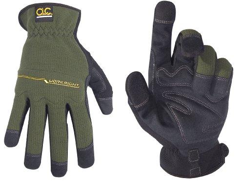 CLC Custom Leathercraft 123M Workright Open Cuff Flex Grip Work Gloves, Medium