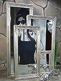 Livitat Wandspiegel Spiegel Badspiegel barock antik Silber 120 x 60 cm LV9011