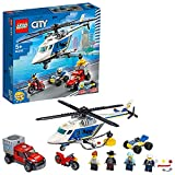 LEGO 60243 City Verfolgungsjagd mit dem Polizeihubschrauber, Quad, Motorrad...