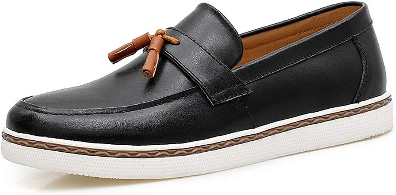 YJiaJu Mode Oxford, lässig Bequeme Slip-on-Leder formelle Schuhe für Männer Männer Männer (Farbe   Schwarz, Größe   38 EU) 5184ba