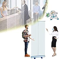 DAGCOT ロールアップバナー透明な床のスタンディングスクリーンくしゃみカットオフバリア保護スクリーンカフェの小売店のための携帯用障壁キャッシャー受付係 (Size : 60*160cm)