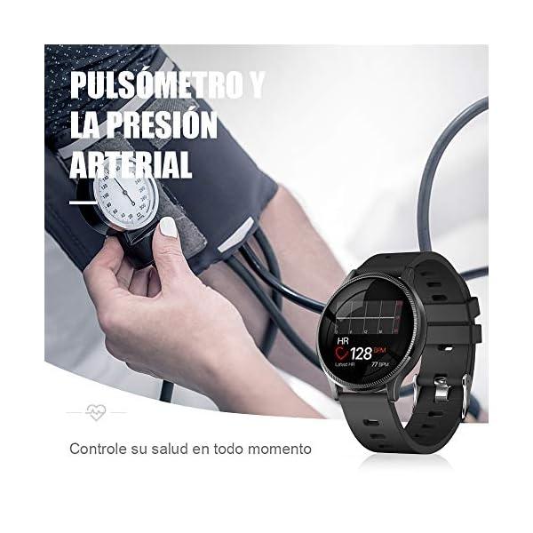 BANLVS Reloj Inteligente, Smartwatch IP67 1.22 Pulgadas Pulsómetro, Monitor de Sueño, Presión Arterial,Pulsera Actividad… 5