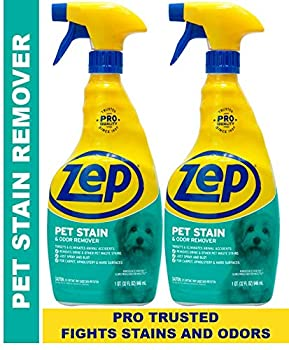 Zep Pet Stain and Odor Remover ZUPETODR  pack of 2  Formulated for Urine Feces Vomit and Odors