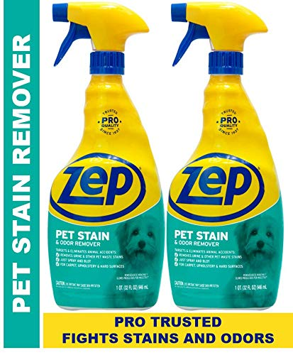 Zep Pet Stain and Odor Remover ZUPETODR (pack of 2) Formulated for Urine, Feces, Vomit and Odors