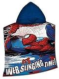 Disney Marvel Spiderman Poncho in Poliestere, MV15400M, 100 x 150 cm