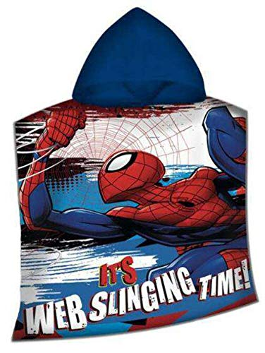 Disney–Spiderman Poncho Poliestere, mv15400m, 100x 150cm