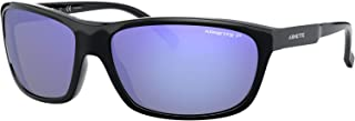 Arnette Man Sunglasses, Black Lenses Injected Frame, 63mm