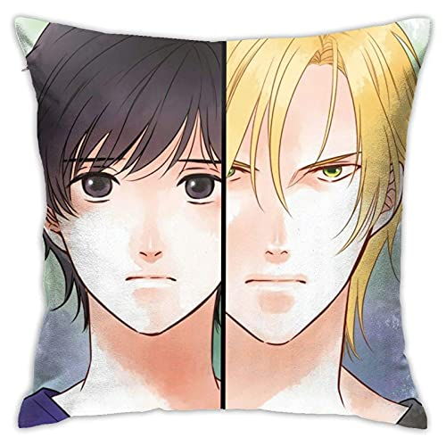 By Banana Fish Ash Lynx Eiji Okumura Anime Throw Pillowcase Anime Pillow Cover Fundas para Almohada 24x24Inch(60cmx60cm)
