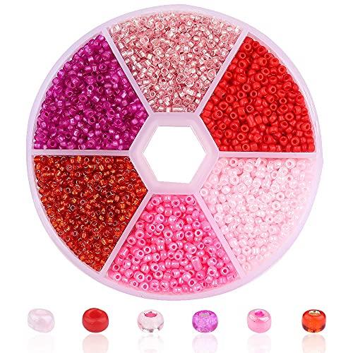 MURUI ZZ 3900 unids 2 mm Cuello de Vidrio de Vidrio checo Cinta de cinturón Conjunto Charm SeedBeads Rondelle Spacer Beads para la joyería Que Hace Bricolaje Collar de Pulsera YC806 (Color : Color 2)
