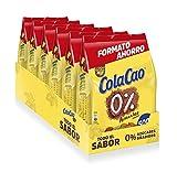 Cola Cao 0% Azúcares Añadidos: con Cacao Natural  -  6 Envases de 500 g en Formato Ahorro Refill