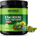 NATURELO Raw Greens Superfood Powder - Unsweetened - Boost Energy, Detox, Enhance Health - Organic...