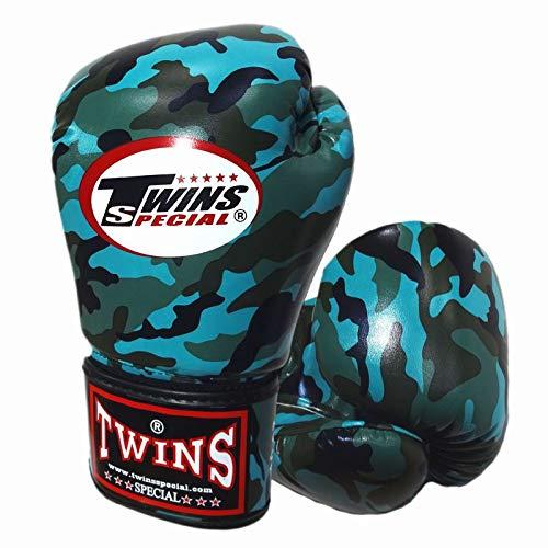 Twins ボクシンググローブ PUレザー ミリタリー Turquoise 8オンス