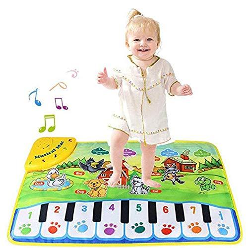 XIONGDA Kinder-Tanzmusik Teppich Baby-Musik-Tanz-Matten-Touch-Spiel Tragbare Spiele Folding Klavier Matten Baby-frühe Bildung Playmat Spielzeug für Kinder Geschenk