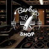 Man Barber Shop Aufkleber Name Chop Brot Aufkleber Haarschnitt Haarschneider Rasierer Poster Vinyl Wandkunst Aufkleber Dekor