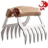 Meat Claws Stainless Steel with Handles Metal Bear Claws Meat Shredders for Pulled