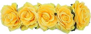 Funbase Women Rose Floral Crown Flower Headband for Wedding Festival Hair Wreath