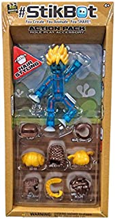 #StikBot Action Pack Figure Roleplay Accessory Set (Blue, Hair Styling)