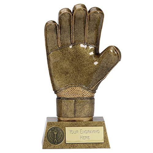 Womack Graphics 8.75 inch (22cm) Pinnacle8 Goalie Glove Resin Trophy Award...