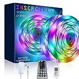 Inscrok Música Tira LED 10M, 300LEDs Luces LED Habitacion con Remoto y Fuente de ETL/UL Alimentación, Tiras LED 5050smd RGB Decoracion Habitacion