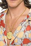 Smiffys Metal Medallion on Chain - Gold