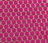 Sin marcaAlfombra de acupuntura de algodón de lino orgánico natural Alfombrilla de masaje Lotus Spike Cojín Colchoneta de yoga Espalda / cuello 173cm * 61cm rosa roja