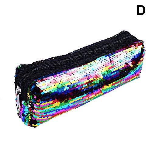 Asosmos 1 Stück Pailette Federmäppchen Make-Up Taschen Schreibwaren Aufbewahrungstasche Geldbeutel - D