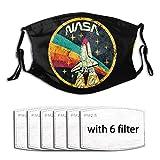 NASA Space Protección Facial Unisex Lavable y Reutilizable para Exteriores con 6 filtros