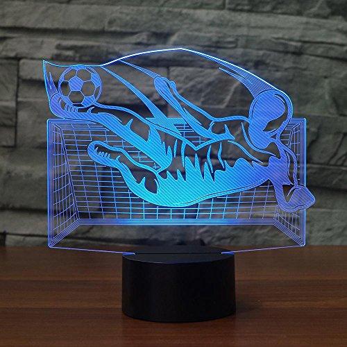 Visuelle Licht Gaming Lichter Nachtlicht 3D Flying Kick Fußball Tischlampe 7 Farben Ändern Visuelle Acryl Nachtlicht Led Usb Fußball Leuchte Kinder Geschenk Wohnkultur Touch Schalter