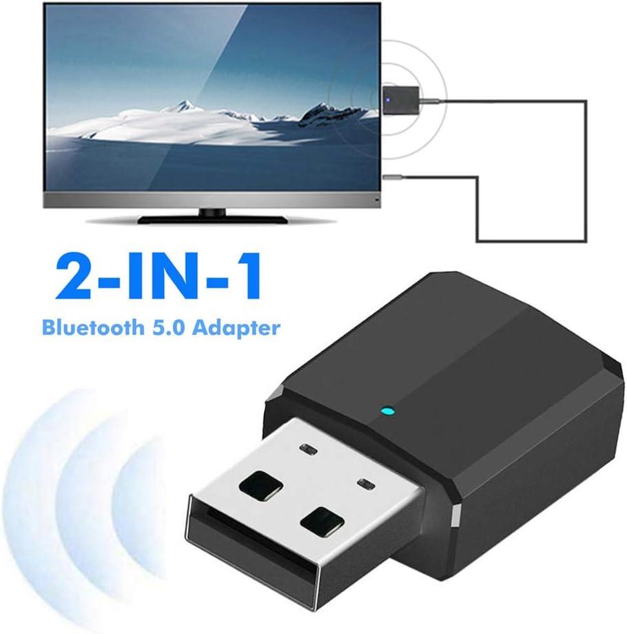 hudiemm0B Bluetooth Audio Adapter ZF-169 2 in 1 USB Wireless Bluetooth Audio Adapter TV PC Receiver Transmitter