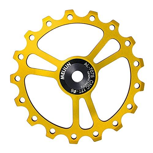 DERCLIVE 17T aleación de aluminio bicicleta desviadores trasero CNC rodamiento bicicleta guía rueda Ciclismo Accesorios