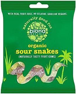 Biona Organic Sour Snakes , 75 g