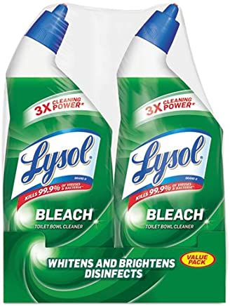 Lysol Complete Clean Toilet Bowl Cleaner with Bleach Value Pack, 2 Count