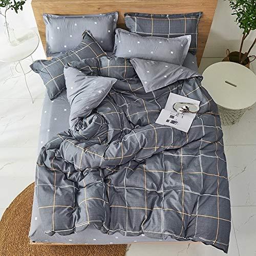 Mdsfe Black star Bed Linen 3 / 4pcs Bedding Set duvet Cover Flat bed sheet pillowcase soft Twin Single full queen king - C25, Flat Bed Sheet, queen cover 180by220