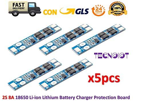 TECNOIOT 5pcs 2S 7.4V 8.4V 8A Li-ion 18650 Lithium Battery Charger Protection BMS PCM