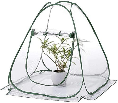 xcxc Mini Carpa de Invernadero, 70 * 70 * 80 cm DurablePop up PVC Grow House con Cubierta de Planta de jardinería para jardín al Aire Libre