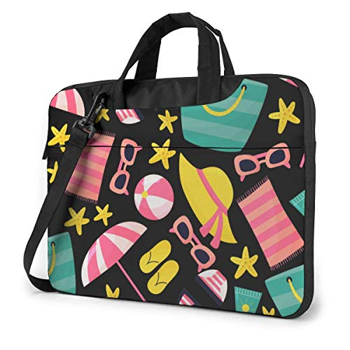 15.6 inch Laptop Shoulder Briefcase Messenger Beach Sunglasses Beach Bag Starfish Swimwear Tablet Bussiness Carrying Handbag Case Sleeve