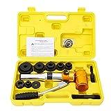 YIYIBY Perforadora hidráulica de chapa perforadora de acero para herramientas, 6 diámetros de 22,5 a 60,8 mm