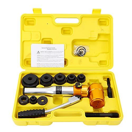 YIYIBY Hydraulische Blechlocher Lochstanze Stanzlocher Blechstanze Punch Rohr Werkzeugstahl 6 Die 22.5-60.8 mm