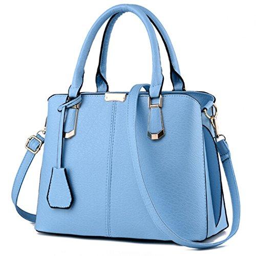 Desconocido Bolso de la mujer Bolso de la Señora Cross Body Bag Tote Messenger Satchel Purse (Cielo azul)
