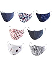 Mediweave Reusable 100% Cotton Cloth Face Mask - Pack of 7 (Mixed Print and MultiColor)Images are representative
