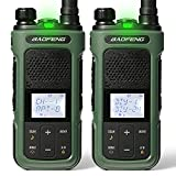 BAOFENG G11S GMRS Radio, NOAA Weather Radio Walkie Talkie Rechargeable, Long Range Two Way Radio with Earpiece, DIY GMRS Repeater Channels, Rechargeable GMRS Handheld Radio, 1 Pair